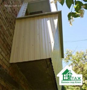 Наружная отделка балкона - тепло и эстетика остекления