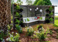 уютный угловой садовый беседка
