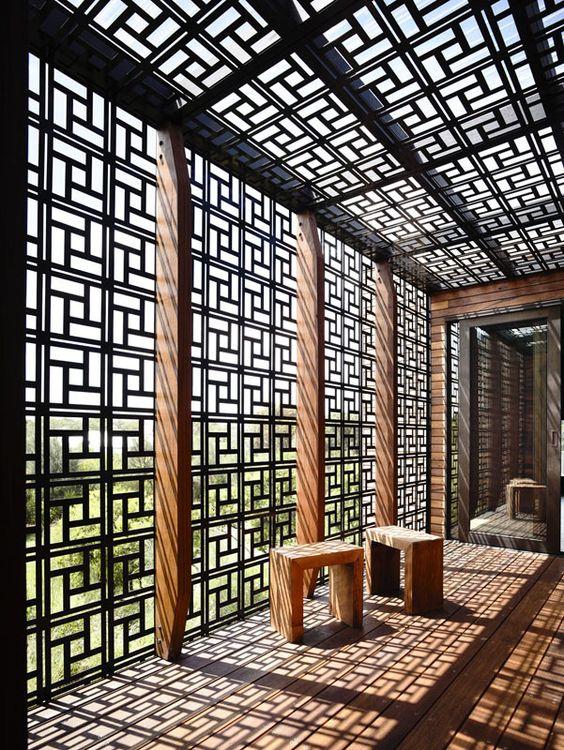 геометрические пергола экраны и тени
